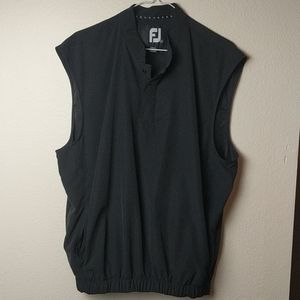 FootJoy men's black sleeveless pullover
